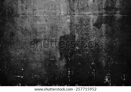 texture or background wall of shabby paint and plaster cracks - stock photo