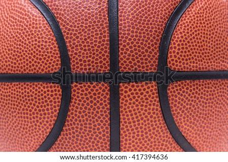 Texture orange basketball or basket ball for background - stock photo
