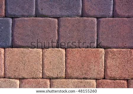 Texture pattern, brick floor - stock photo