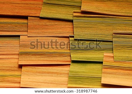 texture plant fiber leaf to the light - stock photo