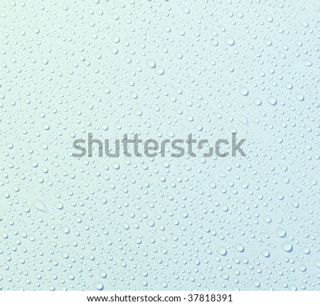 Texture plastic with drops water. - stock photo