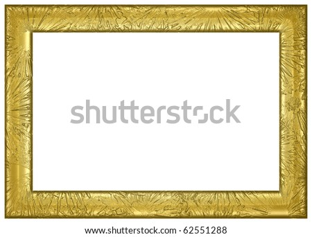 Texture Rendered Gold Frame - stock photo