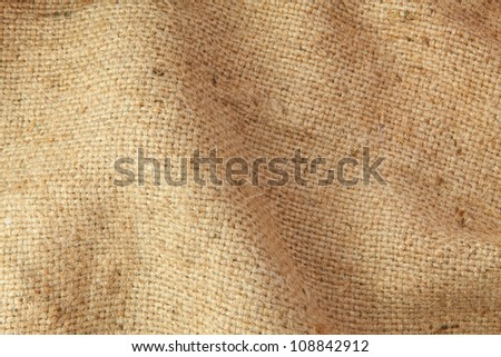 Texture sack sacking country as the background - stock photo