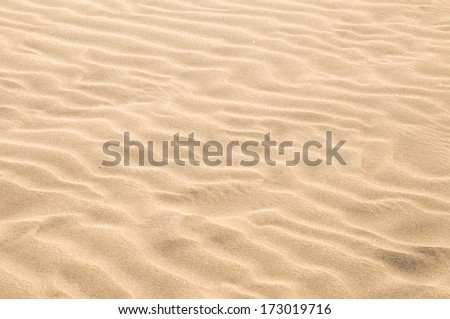 Texture Sand Dune Desert in Gran Canaria Island Spain - stock photo