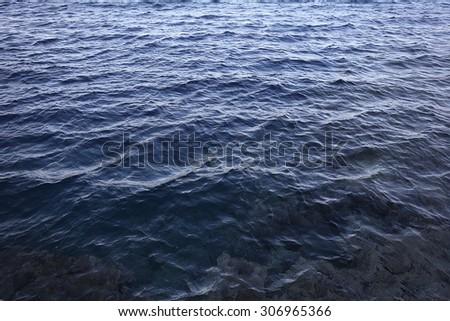 Texture sea water waves - stock photo