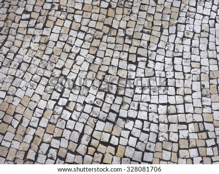 Texture tile Street in Portuguese style - stock photo