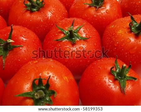 texture tomato - stock photo