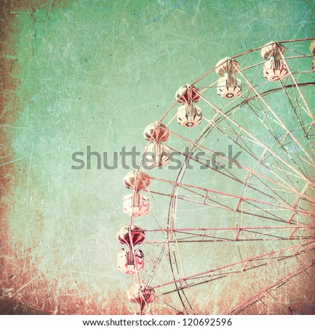 Texture Vintage Ferris Wheel Carnival - stock photo