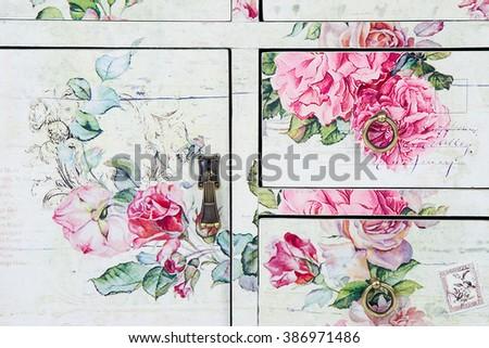 texture wardrobe Provence - stock photo