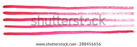 Texture watercolor smears in red tones isolated on white background - stock photo