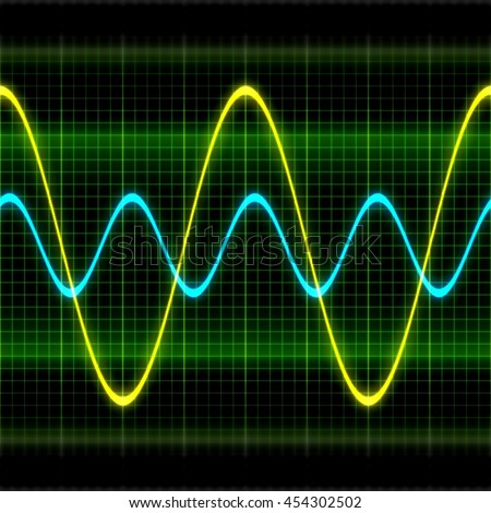 Texture wave oscilloscope 3D illustration