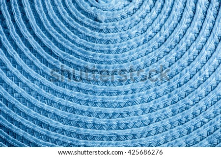 Texture, weave, pattern, circle, circulation, circular,blue - stock photo
