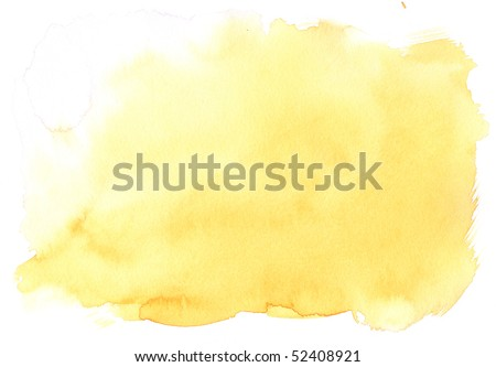 texture yellow watercolor background painting - with space for your design - stock photo