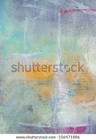 Textured abstract painting. Handpainted background. - stock photo