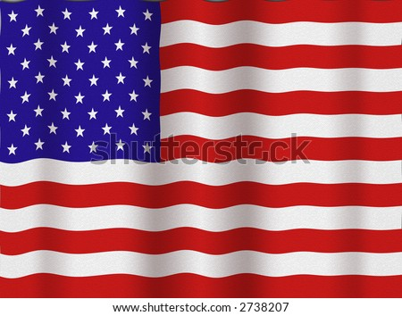 Textured American Flag - stock photo