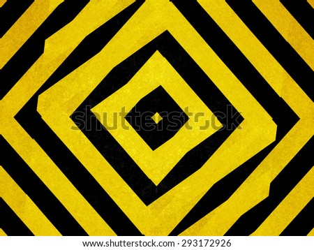 Textured black and yellow striped diamond shapes - stock photo
