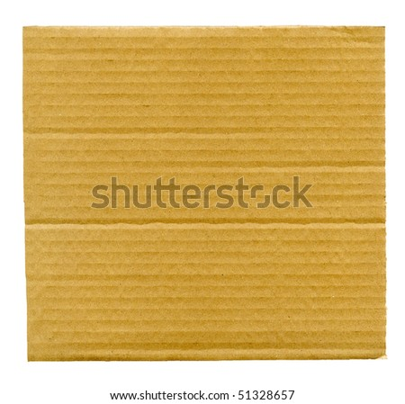 Textured cardboard isolated over white - stock photo