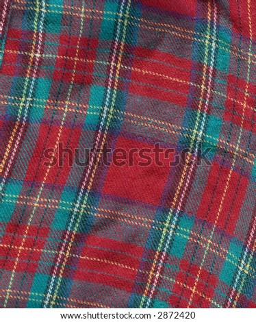 Textured Christmas Plaid Flannel - stock photo