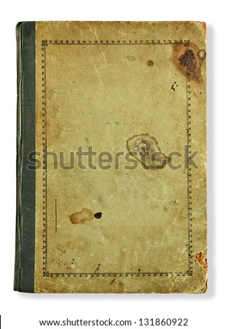 textured dirty cover isolated in white - stock photo