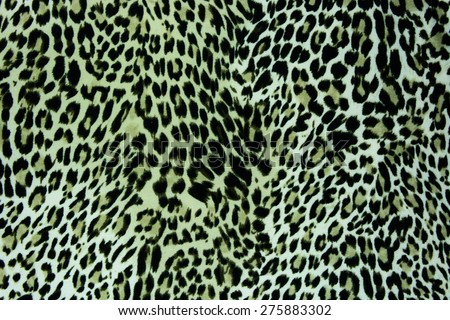 textured fabric leopard background - stock photo