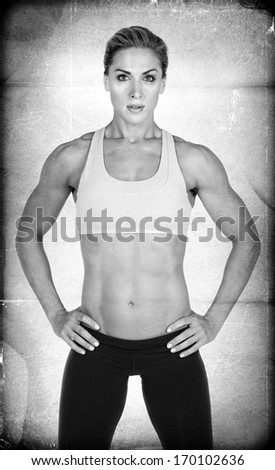Textured Female Body Builder