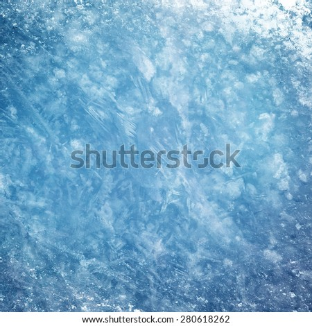 Textured ice blue frozen rink winter background  - stock photo