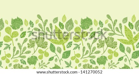 Textured leaves horizontal seamless pattern background raster