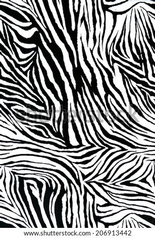 textured of zebra style fabric - stock photo