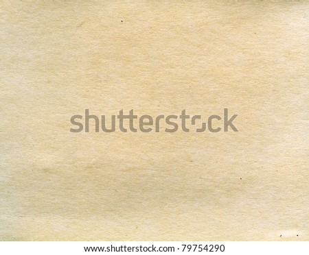 Textured old grainy recycled paper with natural fiber parts - stock photo
