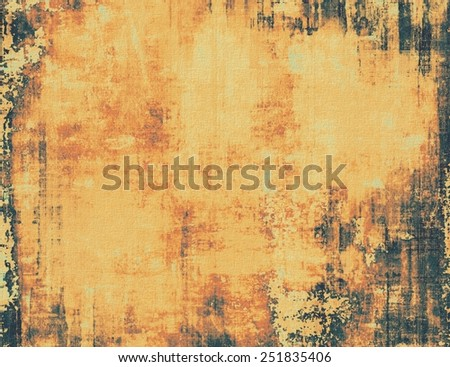 Textured old pattern as background. With different color patterns: yellow (beige); brown; black - stock photo