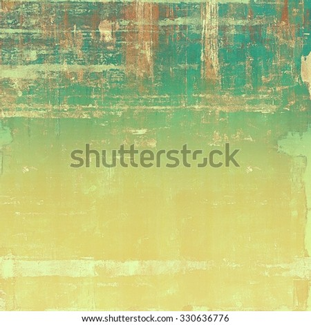 Textured old pattern as background. With different color patterns: yellow (beige); brown; cyan; green - stock photo