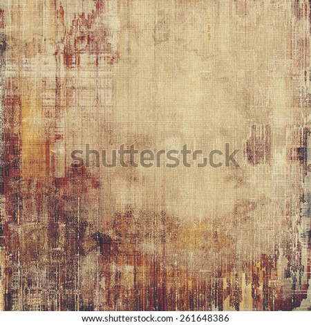 Textured old pattern as background. With different color patterns: yellow (beige); brown; gray - stock photo