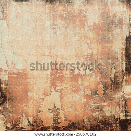 Textured old pattern as background. With different color patterns: yellow (beige); brown; red (orange); gray - stock photo