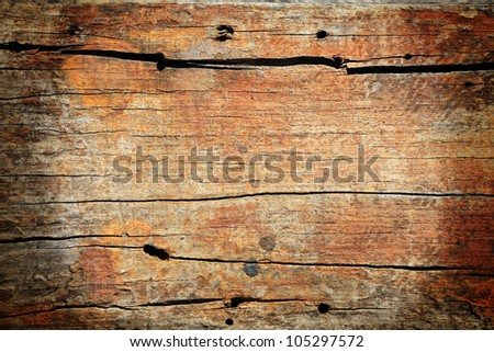 Textured pattern of red broke wooden board - stock photo