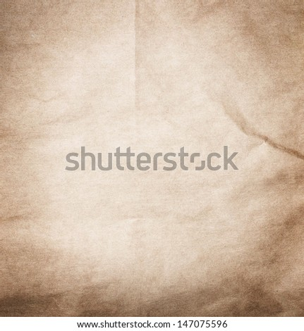 Textured recycled vintage beige natural  paper background. - stock photo