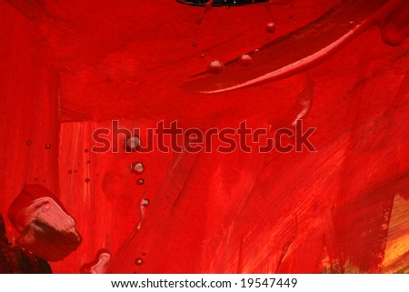 Textured Red Canvas - stock photo