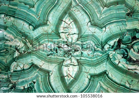 Textured smooth malahite background in shades of green