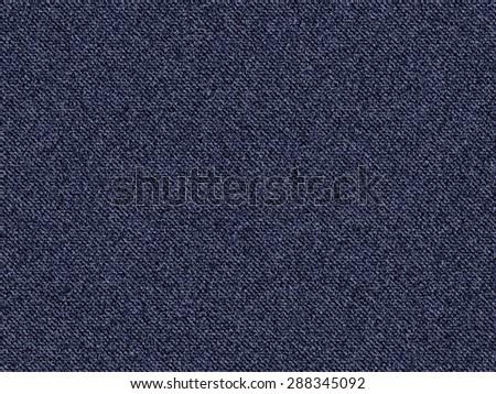 Textured striped blue jeans denim linen fabric background - stock photo