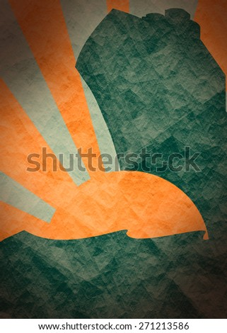 textured template for sea journey - stock photo