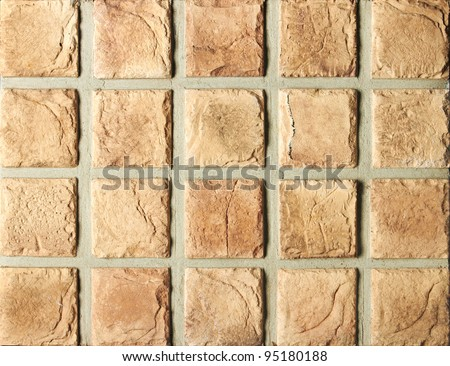 Textured tiles in square forms as background - stock photo