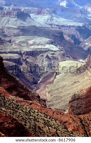 Textures And Colors-Grand Canyon Arizona-South rim