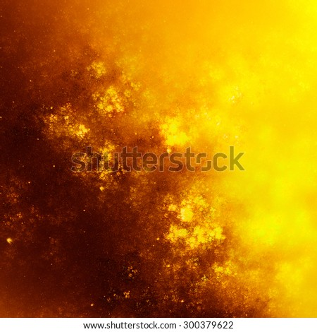 Textures create a sense of chaotic applying paint to the canvas. Warm autumn colors - stock photo
