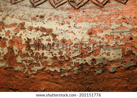 Textures of Large earthen jar
