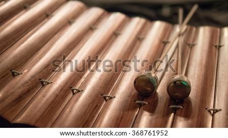 thai alto xylophone asia music instrument - stock photo