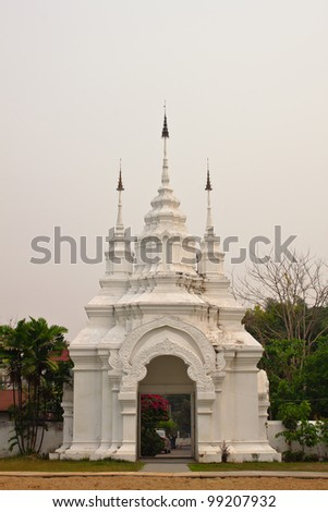 thai arched entrance - stock photo