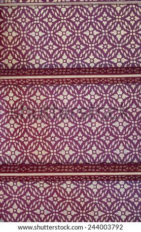 Thai art on ceiling - stock photo
