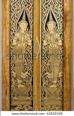 Thai art on door at temple & Thai Fine Art Stock Images Royalty-Free Images \u0026 Vectors ... Pezcame.Com