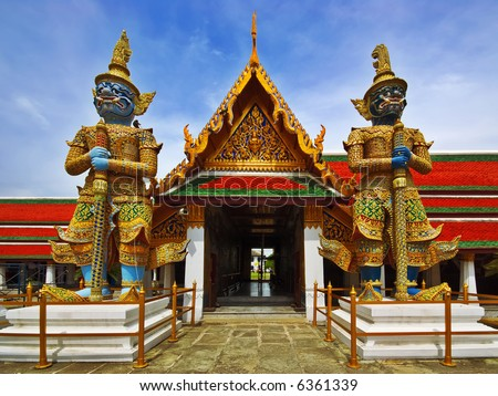 Thai Authentic Architecture in Bangkok - stock photo