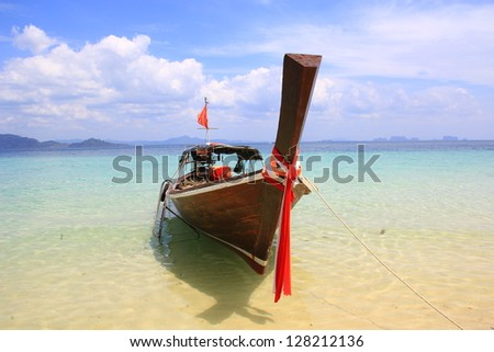 Thai boat in the bay