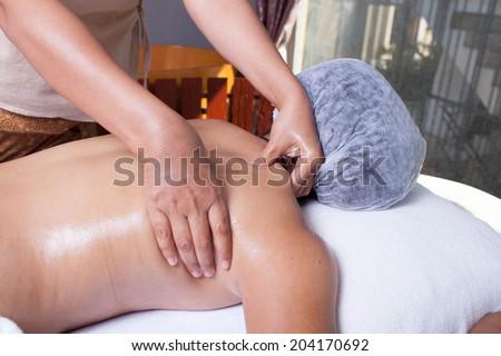 Thai Body Massage - stock photo